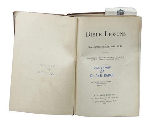 Bible Lessons by Rev  James Ecker, D D , Ph D